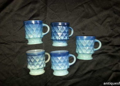 Blue Anchor Hocking Mugs
