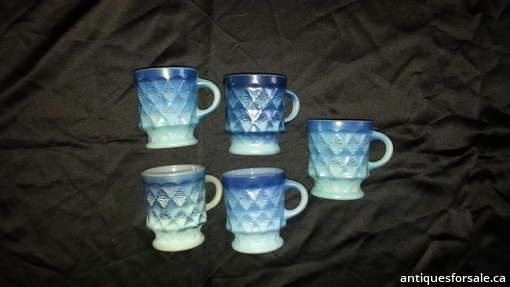 Blue Anchor Hocking Mugs